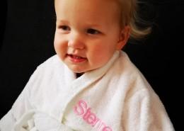 Baby badjas wit